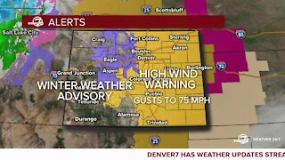NWS issues winter weather advisory, high wind watch for Saturday