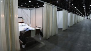 Makeshift Care Centers Sit Empty As Virus Strains Hospitals