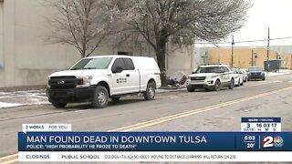 Man found dead in downtown Tulsa
