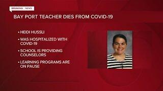 Bay Port High School teacher dies after COVID-19 hospitalization