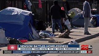 Governor Gavin Newsom battles homelessness
