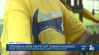 Dreambuilders helps during pandemic, making folding desks for underprivileged students in Howard County