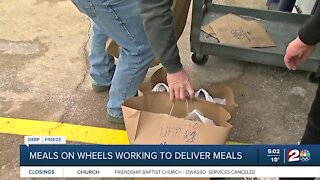 Meals on Wheels working to deliver meals