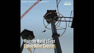 Visit the World's First Zipline Roller Coaster