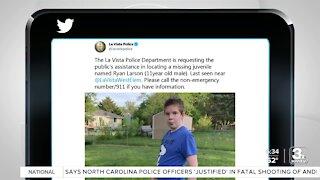 Search continues for missing La Vista boy