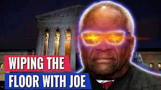 WATCH CLARENCE THOMAS WIPE THE FLOOR WITH LOW IQ JOE BIDEN - THIS IS GOLD!