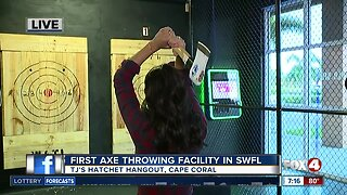 First axe throwing facility opens in Southwest Florida - 7am live report
