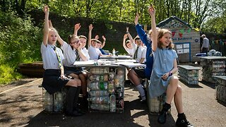 Plastic Fantastic! Schoolkids Build Own Classroom Out Of 3,000 Recycled Bottles