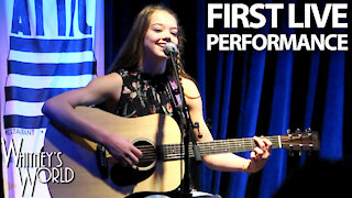 First Live Performance Ever | Whitney Bjerken | Clouds