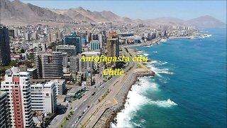 Antofagasta city and beach in Chile