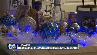 Christmas presents stolen from Howell girl with special needs