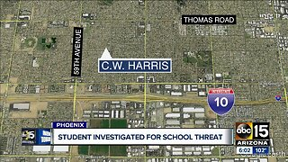 Student investigated for school threat