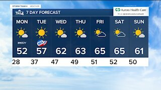 Warm week ahead begins on Monday