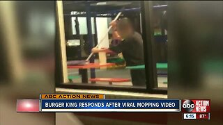 Burger King responds to viral video showing Florida worker mop table top