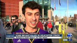 Colorado basketball fans react to loss of NBA legend Kobe Bryant