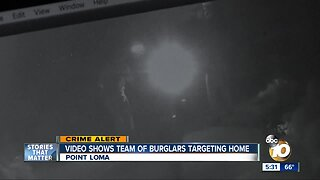 Video shows team of burglars targeting Point Loma home