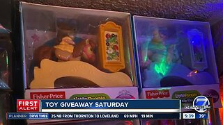 Toy giveaway Saturday at Christmas Tree farm