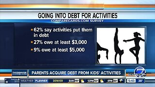 Parents acquire debt from kids' extracurricular activities