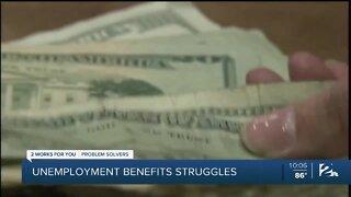 Unemployment benefits struggles