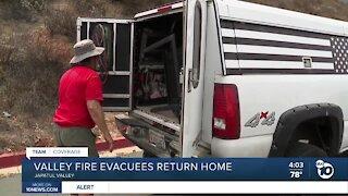 Valley Fire evacuees return home