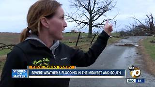 Severe weather & flooding in the midwest and south