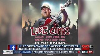 Luke Combs coming to Bakersfield in October