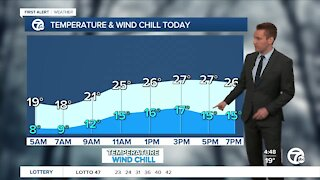 Metro Detroit Forecast: Single-digit wind chills this morning, brighter skies