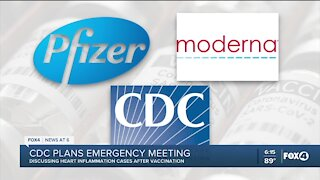 CDC meeting to discuss heart inflammation after vaccination
