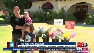 Community members rally around woman who created The Giving Bench