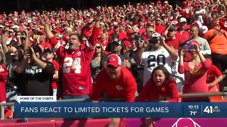 Chiefs fans react to limited tickets for games