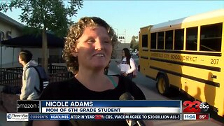 Students and parents bittersweet for first day of school