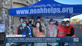 Local organization helping to vaccinate underserved communities