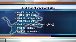 Lions reveal 2020 schedule