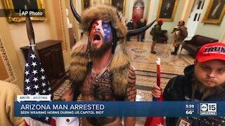 Arizona man seen wearing horns during U.S. Capitol riots arrested in Phoenix