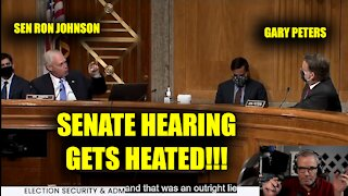 Ron Johnson Gets Heated During Hearing