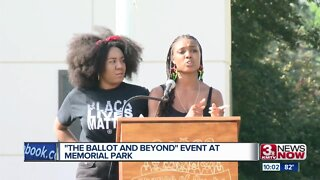 The Ballot and Beyond event at Memorial Park