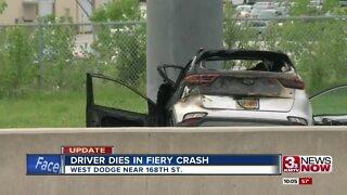 Driver dies in fiery crash