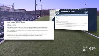 Teams upset after soccer season canceled, but no refunds