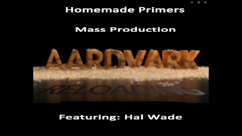 Homemade Primers - Mass Production of Primers