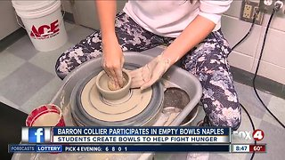 High School students participate in Empty Bowls Naples to fight hunger
