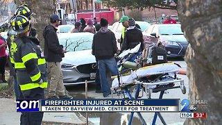 Firefighter injured battling Norfolk Avenue house fire