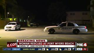 Woman rescued on Fort Myers Beach