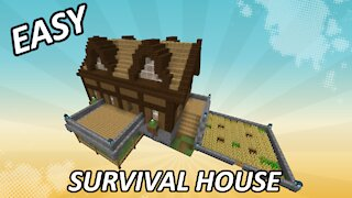 How To Build A Survival House In Minecraft I Build Tutorial #1
