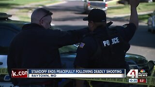 Standoff ends peacefully after deadly Raytown shooting