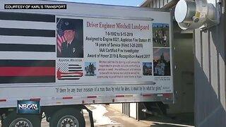 Local businesses honor Mitch Lundgaard in memorial trailer
