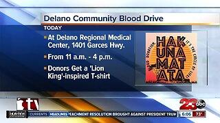 Delano Community holding Hakunamatata blood drive
