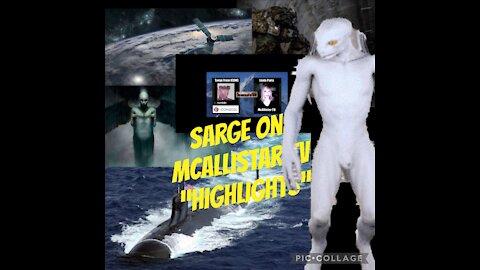 Sarge on McAllistar TV HIGHLIGHTS