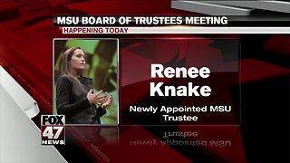 MSU board of trustees meeting