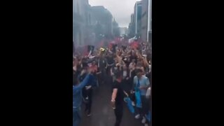 Dutch Protesters Dance In Opposition To COVID Restrictions