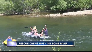 Water rescue crews busy on the Boise River